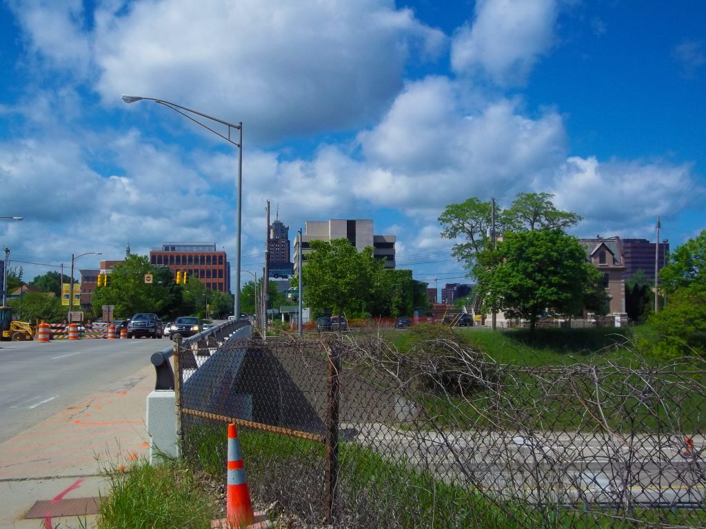 Downtown Lansing looking south at Interstate-496 and Capitol Avenue